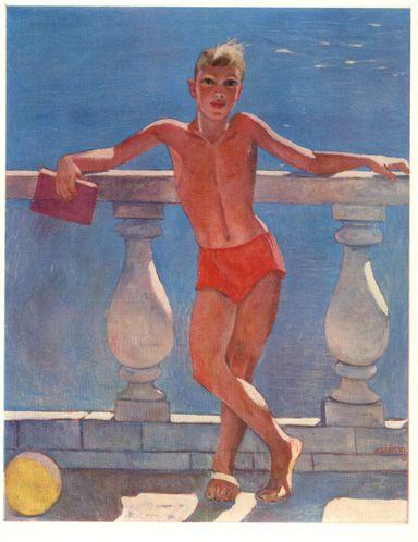 Alexander Deineka - In the South (détail), 1966