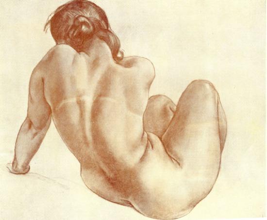 Alexander Deineka - Naked girl, 1951