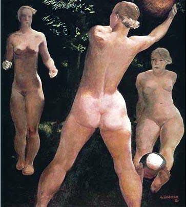 Alexander Deineka - Play with a ball; 1932