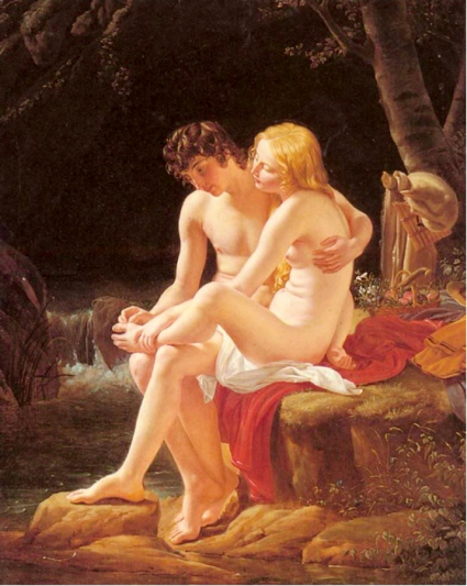 Louis Hersent - daphnis et Chloé, le Tireur d'épine, vers 1820