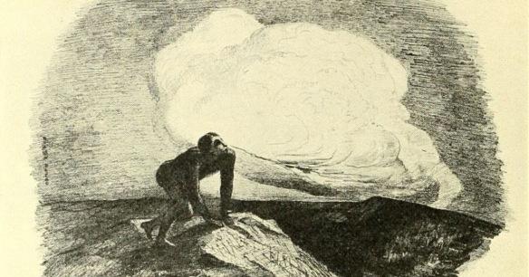 peintre odilon redon - le silence eternel de ces espaces infinis m effraie (dessin a la minede plomb)