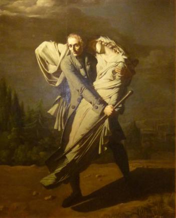 Pierre-Auguste Vafflard - Le poète Edward Young et sa fille, 1804