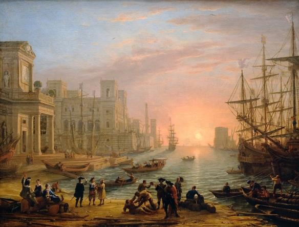 Claude Gellée dit Le Lorrain - Port de mer au soleil couchant, 1639 .jpg