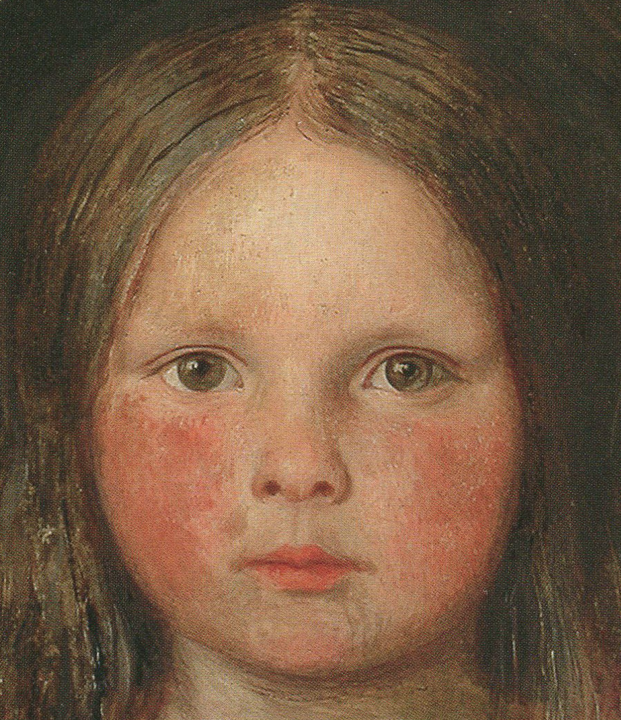 Ford Madox Brown - Lucy, first surviving daughter, 1849 (détail).png