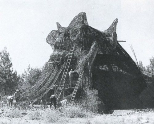 Golem in progress, 1972, from Niki de Saint Phalle by Pontus Hulten