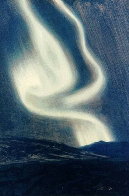 Harald Viggo greve Moltke ( Danish, 1871-1960), Northern Lights Over An Island, 1899