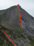 stratigraphie des faces N-O et N-E du mont Charvin