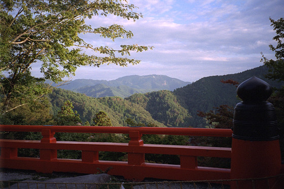 View of the sacred Mount Hiei from Kuramadera.