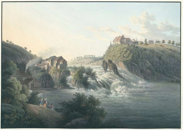 Schmidt, Friedrich August - La Chute du Rhin près de Schaffhouse, vers 1810 .jpg