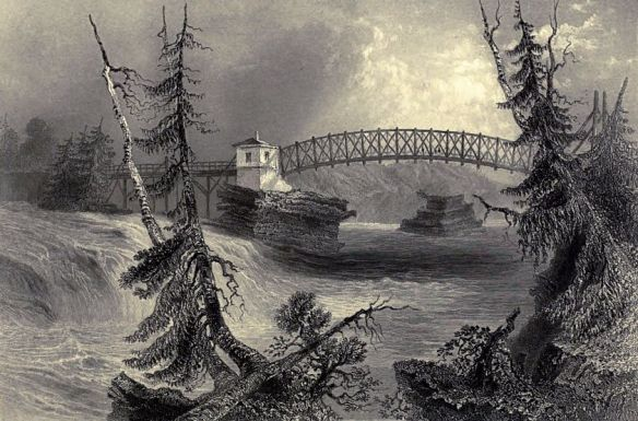 w-h-bartlett-bridge-at-bytown-upper-canada-canadian-scenery