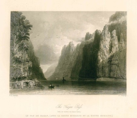 william-henry-barlett-les-portes-de-fer-le-danube-illustre-1844-1849
