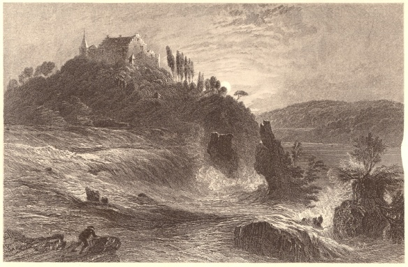 William Henry Bartlett (1809-1854), Stich von James Charles Armytage (um 1820-1897) - Der Rheinfall.