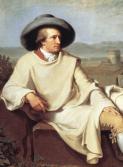 Johann Heinrich Wilhelm Tischbein - Goethe in the Roman Campagna (détail), 1786:1787 .png