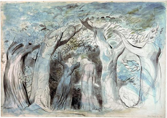 william-blake-dante-and-virgil-penetrating-the-forest-ca-1824-7-watercolor-on-paper