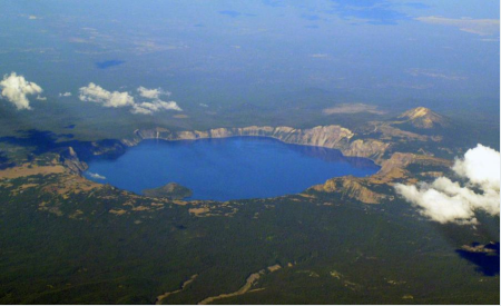 Crater Lake is the remnant of Mount Mazama, USGS.png
