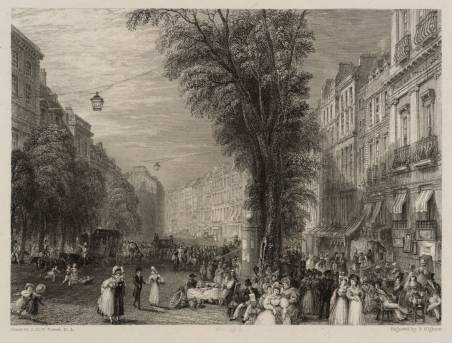 Boulevards, Paris 1835 by Joseph Mallord William Turner 1775-1851