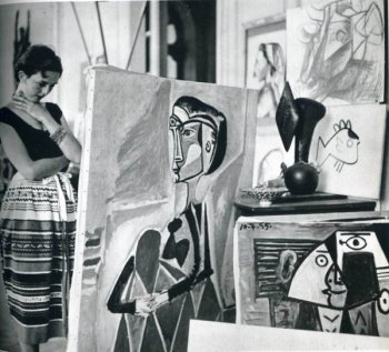 jacques-henri-lartigue-florette-at-picassos-studio-1955
