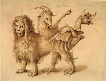 Jacopo Ligozzi - Une chimère, 15890-1610.jpg