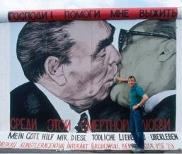 Baiser Brejnev Honecker par Dimitri Vrubel