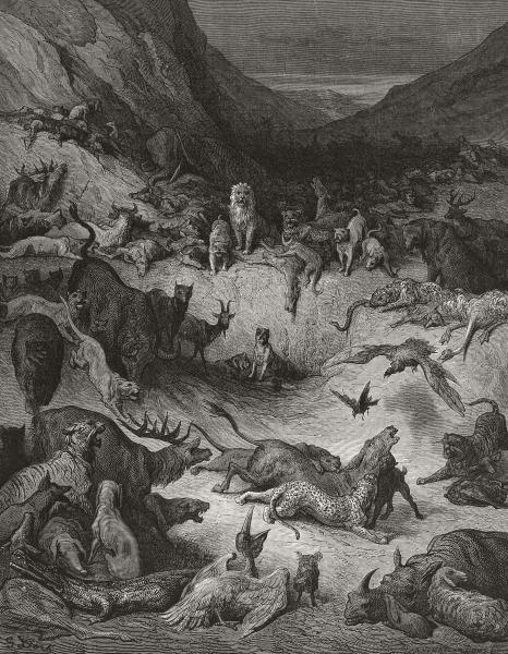 Gustave Doré - Les animaux malades de la Peste de Jean de La Fontaine, 1866-1867