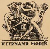 Art-exlibris.net - exlibris by Valentin Le Campion for Dr. Ferdinand Morin