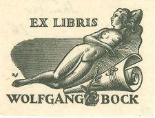 EX-LIBRIS de Wolfgang BOCK par Valentin Le Campion.