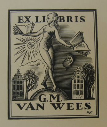 Ex-libris; lot with 4 Ex-libris and 7 special prints by Valentin le Campion (1903-1952)