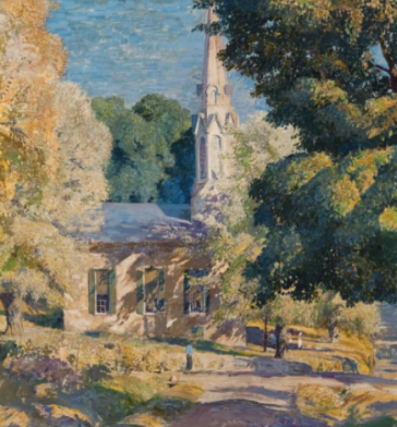 Daniel Garber - Stockton Church, 1939