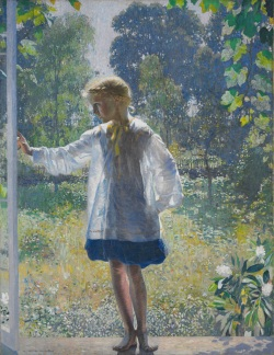Tanis, 1915, by Daniel Garber - July27_garber