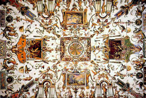 Antonio Tempesta - Florence, plafond du 1er corridor de la Galerie des Offices, entre 1579 et 1581