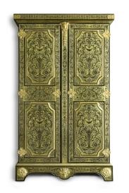 armoire attribuée à Nicolas Sageot - Bâti en chêne, marqueterie en contre-partie d'écaille sur fond de laiton, vers 1710
