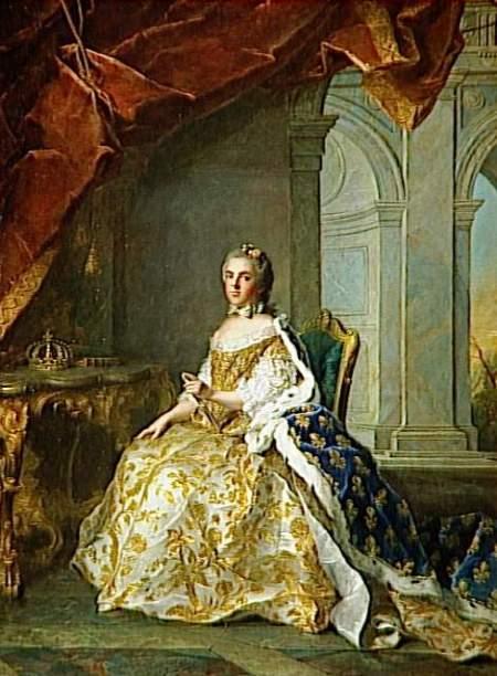 Jean-Marc Nattier - Louise-Elisabeth de France, infante d'Espagne, puis duchesse de Parme en habit de cour (1727-1759), 1761