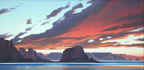 Flame Sky Lake Powell1990 by Ed Mell.png