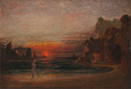 Francis_Danby_-_Study_for_'Calypso's_Grotto'_ vers 1843 -_Google_Art_Project