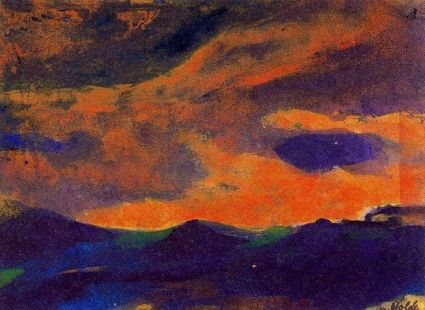 foncé mer avec brun ciel de Emile Nolde (1867-1956, Germany).jpg