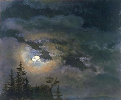Johan Christian Clausen Dahl - Nuage et paysage au clair de lune, 1822.jpg