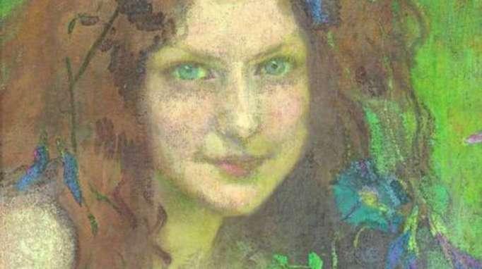 Julie Wolfthorn - Mädchen mit blaugrünen Augen, 1899,