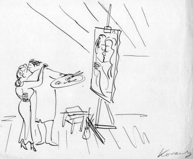 Kovarsky-cartoon-sketch_c-1955-62_The-kiss_C-The-Estate-of-Anatol-Kovarsky.jpg