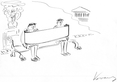 Kovarsky sketch_Reading the morning papyrus-1.jpg