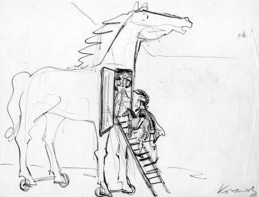 Kovarsky_cartoon-sketch_Trojan-Horse-times-two_c-1953_60_C-The-Estate-of-Anatol-Kovarsky-1.jpg