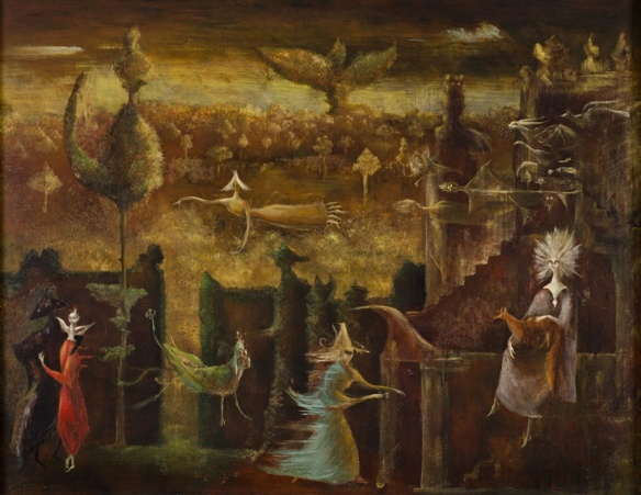 Leonora Carrington, Nine Nine Nine, 1948, oil on canvas, private collection.jpg