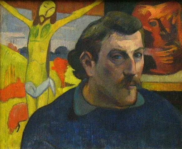 Gauguin - autoportrait au Christ jaune,1889.JPG