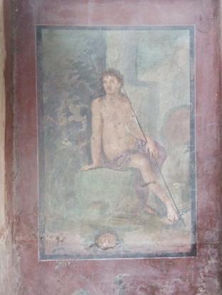 Narcisse - fresque à Pompei