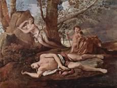 Nicolas Poussin - Eco et Narcisse, vers 1629-1630