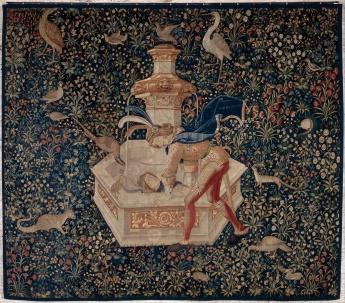 Tapisserie représentant Narcisse, vers 1500 (Google Art Project)