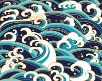 A_PE0042_Japanese_Waves_wallpaper_mural