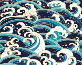 A_PE0042_Japanese_Waves_wallpaper_mural