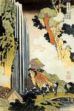 Katsushika Hokusai-Waterfall