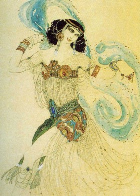 Cleopatre ballet costume, designed by Léon Bakst, 1908