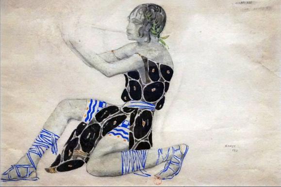 Costume de Nijinski pour le rôle de Narcisse en 1911 Bibliothèque-musée de l'Opéra, Paris –